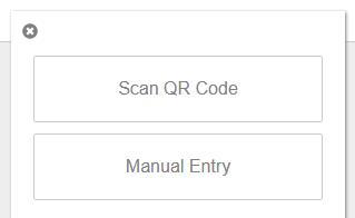 Enter the secret key manually