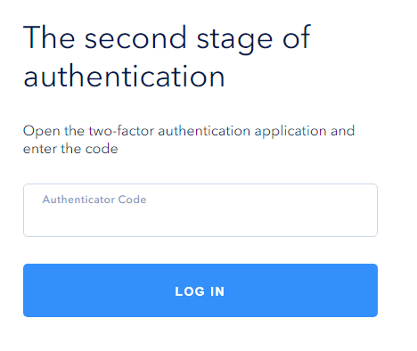 Enter the code from the application