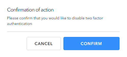 Confirm your actions