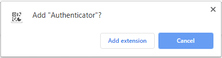 Open up the Chrome internet store and find the Authenticator application