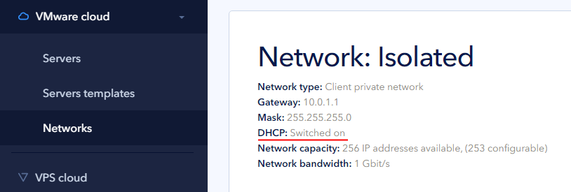 Check network properties on control panel