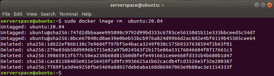To remove a Docker image run the command