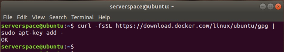 You will get an 'OK' reply on the terminal as shown