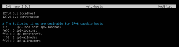 Change the old hostname to the new one
