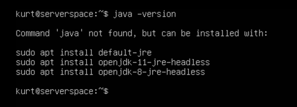 If Java was newer installed, yo'll see the following results