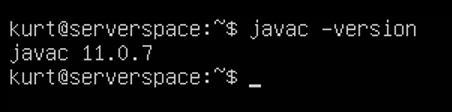 Now check JDK version with command