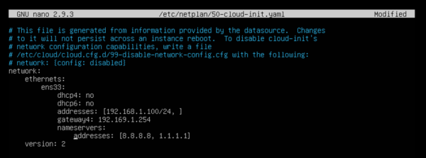As you can see there's dhcp4: true = dchp for ipv4 is enabled