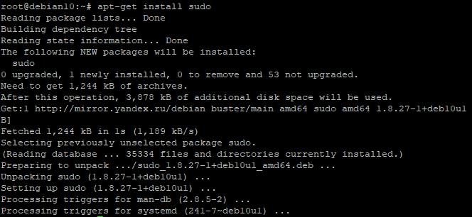 Debian superuser rights