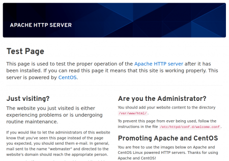 Apache test page