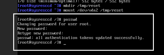 Screenshot 8: how to recovery root password