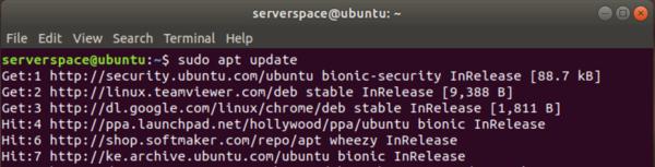 Updating Ubuntu packages list